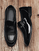 cheap -Men's Summer / Fall Business / Casual Daily Party & Evening Loafers & Slip-Ons Walking Shoes Nappa Leather Waterproof Handmade Black