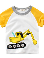 cheap -Kids Boys' Street chic Patchwork Short Sleeve Tee Yellow