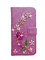 cheap -Case For Samsung Galaxy S20 Ultra /S20 Plus/S10 Plus Wallet / Card Holder / with Stand Full Body Cases Glitter Shine Roses PU Leather Case For Samsung S9 Plus /S8 Plus /S7 Edge/Note 10 Pro /A51/A71