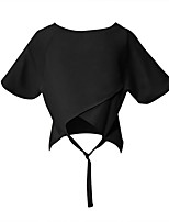 cheap -Women's Tee / T-shirt Short Sleeves Cut Out Crop Top Sport Athleisure T Shirt Lightweight Breathable Soft Yoga Tennis Exercise & Fitness Running Everyday Use Daily Casual