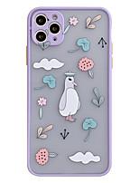 cheap -Case For APPLE  iPhone7 8 7plus 8plus  XR XS XSMAX  X SE  11  11Pro   11ProMax Transparent Pattern Back Cover Cat Animal Cartoon Silica Gel