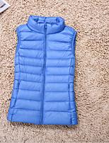 cheap -Women's Vest Solid Colored Polyester Wine / White / Black S / M / L