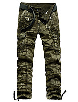 cheap -Men's Hiking Pants Hiking Cargo Pants Outdoor Standard Fit Breathable Stretchy Comfortable Multi-Pocket Cotton Pants / Trousers Bottoms Dark Grey Jungle camouflage Black Khaki Dark Green Hunting