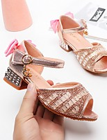 cheap -Girls' Sandals Comfort PU Little Kids(4-7ys) Pink / Silver Summer