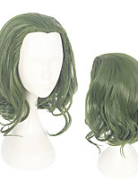 cheap -Synthetic Wig Toupees Cosplay Wig Joker The Joker Loose Curl Cosplay Middle Part Wig Short Mint Green Synthetic Hair 14 inch Men's Cosplay Synthetic Green hairjoy