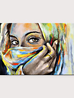cheap -Modern Fashion Female Art Hand-Painted Contemporary Wall Art Veiled Girl Canvas Wall Art Oil Painting