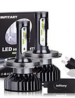 cheap -Infitary 2Pcs Canbus Car Led Headlight Bulb 16000Lm 6500K ZES Chips H1 H3 H7 H11 9005 9006 Auto Fog Lamp