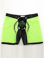 cheap -Men's Cut Out / Mesh Boxers Underwear - Normal Low Waist White Black Red S M L