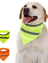cheap -Dog Cat Bandanas & Hats Dog Bandana Dog Bibs Scarf Solid Colored Casual / Sporty Fashion Sports Casual / Daily Dog Clothes Adjustable Yellow Orange Costume Cotton Polyster S M L