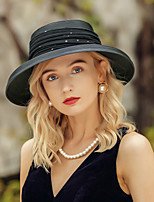 cheap -Headwear Casual Polyester Headwear / Straw Hats with Lace 1pc Special Occasion / Daily Wear Headpiece