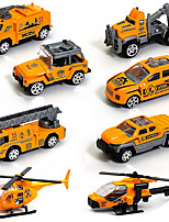 cheap -Vehicle Playset Construction Truck Toys Engineering Vehicle Mini Race Car Simulation Alloy Mini Car Vehicles Toys for Party Favor or Kids Birthday Gift 4 pcs / Kid's