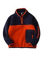 cheap -Kids Boys' Basic Color Block Long Sleeve Blouse Orange