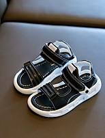 cheap -Boys' Sandals Comfort PU Little Kids(4-7ys) / Big Kids(7years +) Walking Shoes White / Black Summer