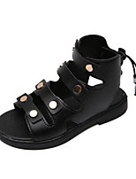 cheap -Girls' Comfort PU Sandals Little Kids(4-7ys) / Big Kids(7years +) Black / Pink / Beige Summer