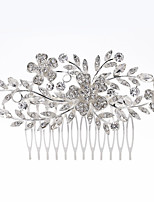 cheap -Women's Hair Combs For Party Evening Engagement Party Festival Imitation Diamond Alloy Silver 1pc
