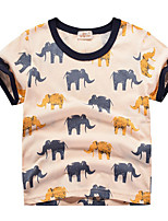 cheap -Kids Boys' Street chic Patchwork Animal Short Sleeve Tee Yellow