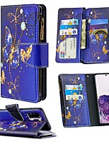 cheap -Case For Samsung Galaxy S20 Ultra S10E S9 Plus Wallet / Card Holder / with Stand Full Body Cases Butterfly PU Leather For Galaxy A10E A20E A10 A20 A30 A40 A50 A70