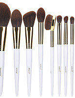 cheap -Professional Makeup Brushes 10pcs Professional Soft Full Coverage Artificial Fibre Brush Wooden / Bamboo for Blush Brush Foundation Brush Makeup Brush Lip Brush Eyebrow Brush Eyeshadow Brush