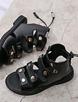 cheap -Girls' Comfort PU Sandals Little Kids(4-7ys) / Big Kids(7years +) Black / Pink / Beige Summer