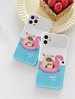 cheap -Case For APPLE iPhone 7 8 7plus 8plus XR XS XSMAX X SE 11 11Pro 11ProMax Pattern Back Cover TPU PC Mirror flamingo cute bear