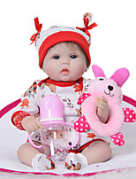 cheap -KEIUMI 16 inch Reborn Doll Baby & Toddler Toy Reborn Toddler Doll Baby Girl Gift Cute Lovely Parent-Child Interaction Tipped and Sealed Nails Half Silicone and Cloth Body with Clothes and Accessories
