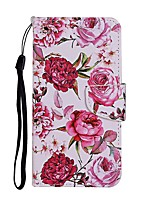cheap -Case For Samsung Galaxy A01 A11 A21 A31 A41 A51 M10 A10 A20 A30 A40 A20E A50 A30S A70 Wallet Card Holder with Stand Full Body Cases Flower PU Leather