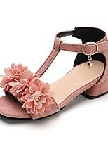 cheap -Girls' Sandals Comfort PU Little Kids(4-7ys) Black / Red / Pink Summer