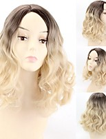 cheap -Synthetic Wig Natural Wave Middle Part Wig Medium Length Ombre Blonde Synthetic Hair 12 inch Women's Party Fashion Comfortable Ombre