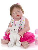 cheap -KEIUMI 22 inch Reborn Doll Baby & Toddler Toy Reborn Toddler Doll Baby Girl Gift Cute Lovely Parent-Child Interaction Tipped and Sealed Nails Full Body Silicone KUM23FS05-RM07 with Clothes and