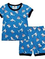 cheap -Kids Boys' Street chic Animal Short Sleeve Tee Blue
