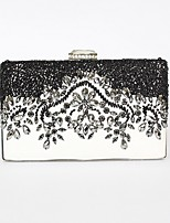 cheap -Women's Bags PU Leather Evening Bag Crystals / Beading for Event / Party Black / Wedding Bags