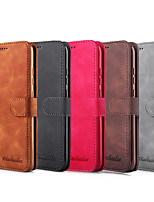 cheap -Case For Huawei Honor 10i 20i 20 20 Pro 9X 9X Pro 10 lite 10i V30 Huawei Mate 20 20 lite 20 Pro 20X 30 30 Pro  Card Holder Flip Full Body Cases Solid Colored PU Leather