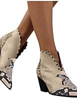 cheap -Women's Heels Spring Fall Block Heel Pointed Toe British Minimalism Daily Party & Evening PU Light Brown / Black / Beige