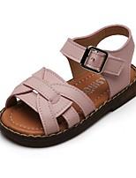 cheap -Girls' Sandals Comfort PU Little Kids(4-7ys) Black / Pink / Green Summer