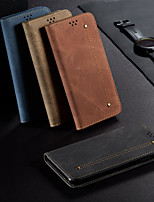 cheap -Case For Samsung Galaxy Galaxy A31 Wallet Flip Full Body Cases Lines Waves Solid Colored PU Leather
