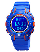 cheap -SKMEI Kids Digital Watch Digital Modern Style Sporty Colorful Calendar / date / day Silicone Black / Blue / Purple Digital - Black Blue Purple One Year Battery Life / Chronograph / Dual Time Zones