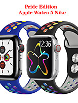 cheap -Colours Rainbow Strap Apple Watch Band 44 mm 40mm iwatch Band 42mm 38mm Pride Edition Silicone Bracelet Apple Watch Series 5 4 3 2 1