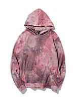 cheap -Women's Hoodie Tie Dye Casual Blushing Pink M L XL XXL