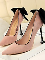 cheap -Women's Heels Summer Stiletto Heel Pointed Toe Daily Solid Colored PU Black / Red / Pink