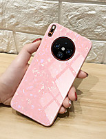 cheap -Case For  Huawei P9 P9Plus P10 P10Plus P20 P20lite P20Pro P30 P30lite P30Pro P40 P40Pro Huawei V30 V30Pro Shockproof  Mirror Back Cover Lines  Waves  Solid Colored TPU  Tempered Glass