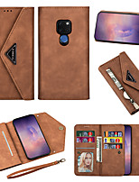 cheap -Huawei P40 Pro Wallet-style Leather Case Phone Case Mate20Pro Mate10 Portable Delivery Short Rope 16 Card Pockets P30 20Pro Protective Case