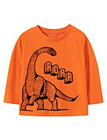 cheap -Kids Boys' Basic Dinosaur Animal Print Long Sleeve Tee Orange