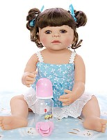 cheap -KEIUMI 22 inch Reborn Doll Baby & Toddler Toy Reborn Toddler Doll Baby Girl Gift Cute Washable Lovely Parent-Child Interaction Full Body Silicone KUM23FS01-T with Clothes and Accessories for Girls
