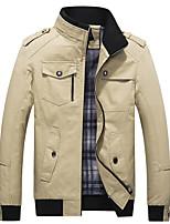 cheap -Men's Hiking Jacket Outdoor Multi-Pocket Jacket Cotton Hunting Climbing Camping / Hiking / Caving Black / Red / Army Green / Khaki / Blue