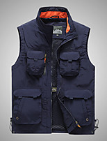 cheap -Men's Hiking Vest / Gilet Summer Outdoor Windproof Breathable Quick Dry Multi Pocket Top Camping / Hiking Hunting Fishing Black / Army Green / Khaki / Dark Blue / Camping / Hiking / Caving