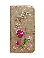 cheap -Case For iPhone 12  iPhone 11 Pro Max iPhone Xs Max Wallet / Card Holder / with Stand Full Body Cases Glitter Shine Roses PU Leather Case For iPhone 7 8 iPhone 7 Plus 8 Plus XR X XS iPhone SE(2020) 5S