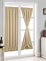 cheap -1 Piece French Door Curtains - Blackout Patio Door/Glass Door Solid Color Window Curtain Panel for Privacy