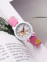 cheap -Kids Quartz Watches Quartz Modern Style Stylish Cartoon Chronograph PU Leather White / Blue / Pink Analog - White Blue Purple