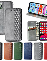 cheap -Checkered Leather Case For iPhone SE 2020 11 11 Pro 11Pro Max X  Magnet Flip Book Case Cover on For iPhone XS XR XS Max 8Plus 7Plus 6Plus 8 7 6 6s