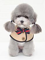 cheap -Dog Bandanas & Hats Dog Bandana Dog Bibs Scarf Bowknot Party Cute Wedding Party Dog Clothes Adjustable White Khaki Costume Cotton S M L / Birthday / Birthday